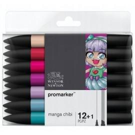 ProMarker Manga Chibi 12+1 Winsor & Newton