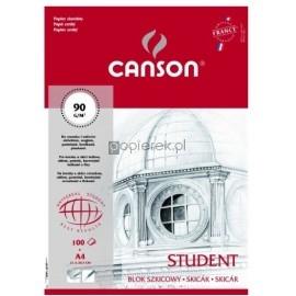 Blok szkicowy A4 STUDENT 100k. 90g, CANSON