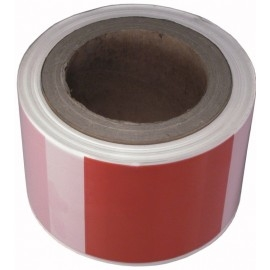 Taśma ostrzegawcza 80mmx100mb, czerwono-biała, czerw-czarna