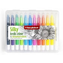 Kredki żelowe HEYKKA Silky 12 kolorów