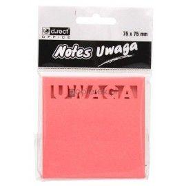 Karteczki samoprzylepne 75x75 mm UWAGA