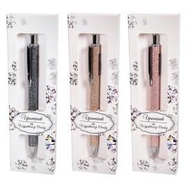 Długopis automatyczny brokat Shine, mix kolorów