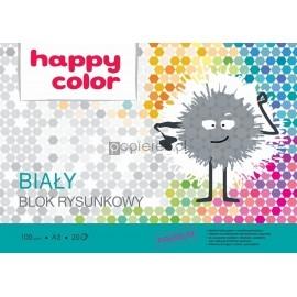 Blok rysunkowy biały A3 Happy Color