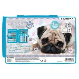 Zestaw artystyczny 68 elementów Pies STARPAK