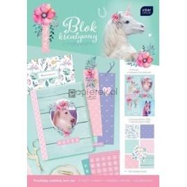 Blok kreatywny A4 motywy I Love Pony INTERDRUK