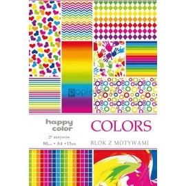 Blok z motywami A4 Colors
