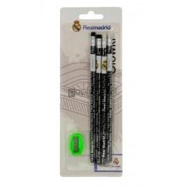 ołówek z gumką 4szttemperówka Real Madrit