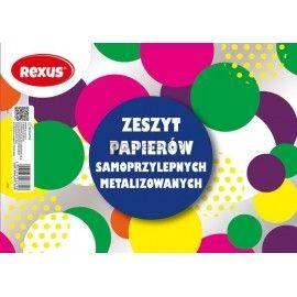 Zeszyt papierów samoprzylepnych metalizowanych A5 Rexus