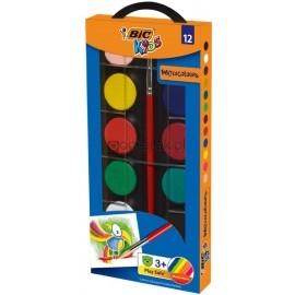Farby akwarelowe BIC 12 kolorów