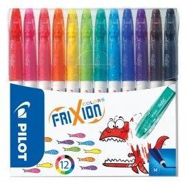 Pisaki flamastry ścieralne PILOT FRIXION 12 kolorów