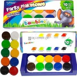 Farby plakatowe BAMBINO 10 kolorów 20ml