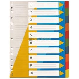 Przekładki numeryczne A4 PP 1-10 Tetis
