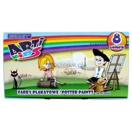 Farby plakatowe Granit Arti-Kids 8 kolorów 20 ml