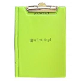 Deska z klipem zamykana A5 Panta Plast zielony pastel
