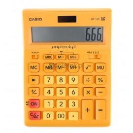 Kalkulator CASIO GR-12C-RG pomarańczowy