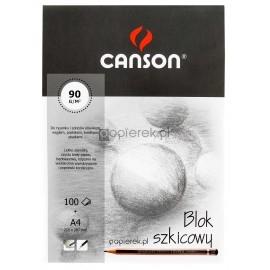 Blok szkicowy Canson A4 90g 100 kartek