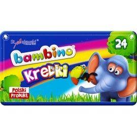 Kredki Bambino w pudełku metalowym 24 kolory