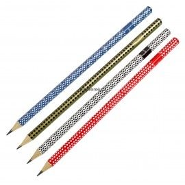 Ołówek trójkątny HB seria w kropki