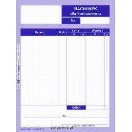 Rachunek dla konsumenta A6 Sieradzki RR-4