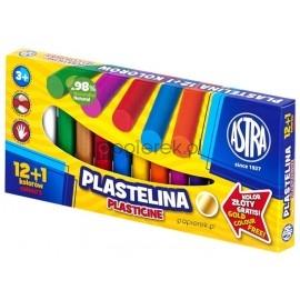 Plastelina Astra 12+1 kolor złoty gratis
