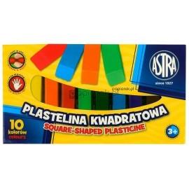 Plastelina kwadratowa Astra 10 kolorów