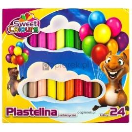 Plastelina 24 kolory nietoksyczna Koma