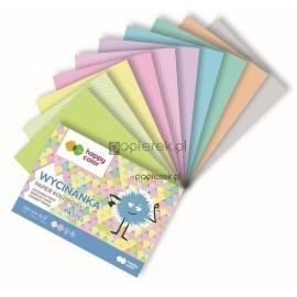 Blok Wycinanka A4 10A 100g pastel Happy Color