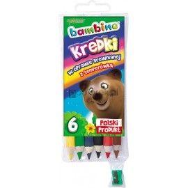 Kredki Bambino w oprawie drewnianej 6 kolorów
