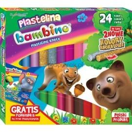 Plastelina 24 kolory Bambino