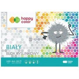 Blok rysunkowy biały A4 premium Happy Color