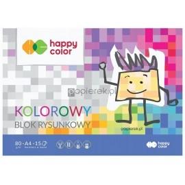 Blok rysunkowy kolorowy Happy Color A4