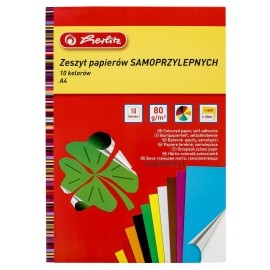 Zeszyt papierów kolorowych samoprzylepnych A4 Herlitz