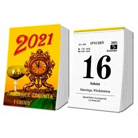 Kalendarz zdzierak SD2 na rok 2021