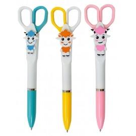 Długopis z nożyczkami do papieru