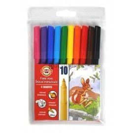 Flamastry zmywalne 10 kolorów Koh-I-Noor